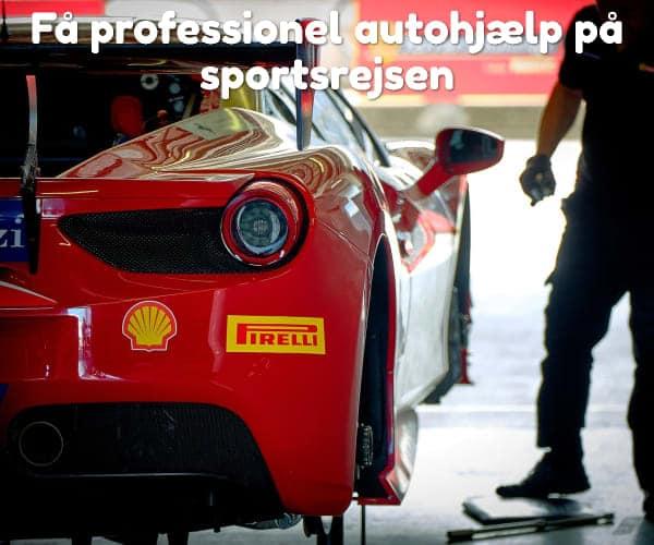 Få professionel autohjælp på sportsrejsen